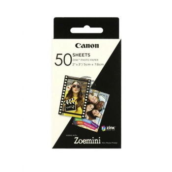 Canon Zink Papier (Zink Papier) weiß 50 Blatt 5 x 7.6 cm 290 g/m² (3215C002)