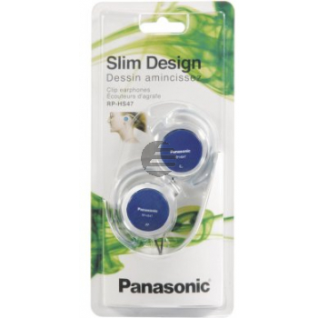 Panasonic RP-HS47E-A Clip Kopfhörer blau