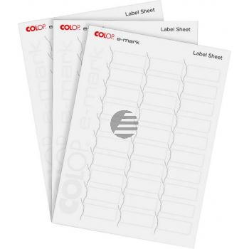 COLOP Etiketten zu e-mark 48x18mm 153559 120g, weiss 300 Stück