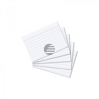 Herlitz Karteikarten A6 weiß liniert Inh.100 (7000803)