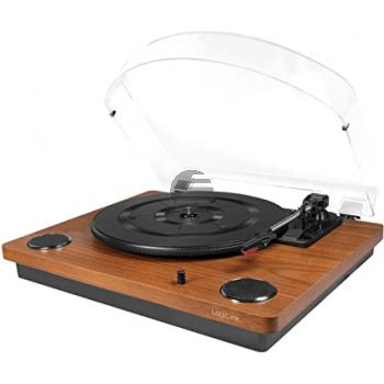 LogiLink Schallplattenspieler mit Staubschutzhülle und Konverter