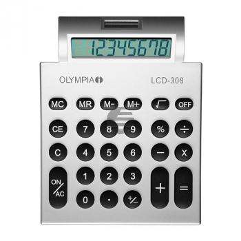 OLYMPIA LCD308 TASCHENRECHNER SILBER 941911007 8stelliges Display