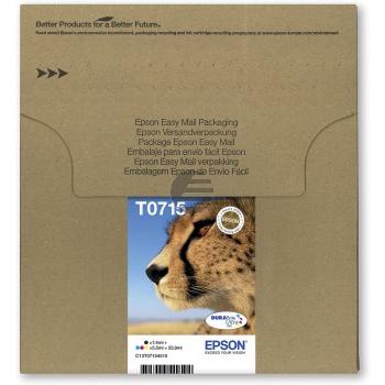 Epson Tintenpatrone (EasyMail) gelb, cyan, magenta, schwarz (C13T07154511, T0715)