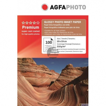 AP210100A6 AP TINTENSTRAHL-FOTOP. 10X15 100Blatt 210gr glaenz. Karton Verpackung