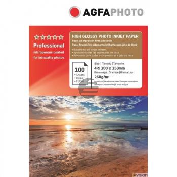 AP260100A6 AP TINTENSTRAHL-FOTOP. 10X15 100Blatt 260gr glaenz. Karton Verpackung