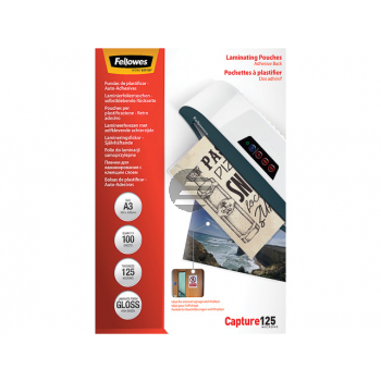 FELLOWES LAMINIERFOLIEN A3 SELBSTKLEBEND 5329001 100Blatt 128mic