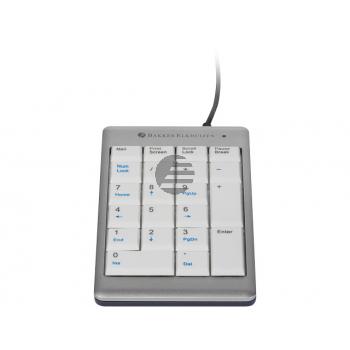 BNEU955NUM BAKKER TASTATUR NUMERIC Ultraboard 955 weiss-silber mit Kabel
