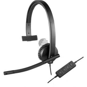 H570E LOGITECH USB COMPUTER HEADSET 981-000571 mit Kabel mono