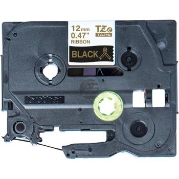 PTOUCH Band schwarz/gold TZE-R334 Tze Geräte 12-36mm