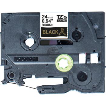 PTOUCH Band schwarz/gold TZE-R354 Tze Geräte 24mm