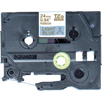 PTOUCH Band hellblau/gold TZE-RL54 Tze Geräte 24mm