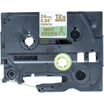 PTOUCH Band mintgrün/gold TZE-RM54 Tze Geräte 24mm