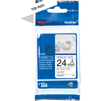 PTOUCH Band schwarz/weiss TZE-R251 Tze Geräte 24mm