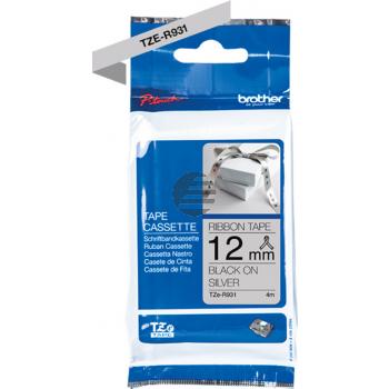 PTOUCH Band silber/schwarz TZE-R931 Tze Geräte 12-36mm