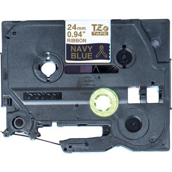 PTOUCH Band d.blau/gold TZE-RN54 Tze Geräte 24mm