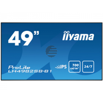 """LH4982SB-B1 123.2CM 49IN IPS 124.46 cm (49 """" ) , Full HD, 700 cd/m², 178°, 1093x71x623mm, 19kg, Black  NMS"""