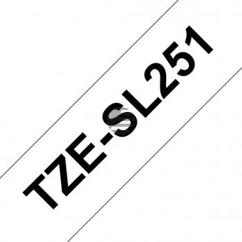 PTOUCH Band selbst lam. schwarz/weiss TZE-SL251 PT-D800W/D900W 24mm