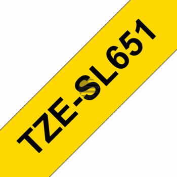 PTOUCH Band selbst lam. schwarz/gelb TZE-SL651 PT-D800W/D900W 24mm