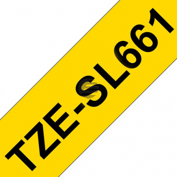 PTOUCH Band selbst lam. schwarz/gelb TZE-SL661 PT-D800W/D900W 36mm
