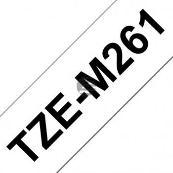 PTOUCH Band matt lamin. schwarz/weiss TZE-M261 PT-D800W/D900W 36mm