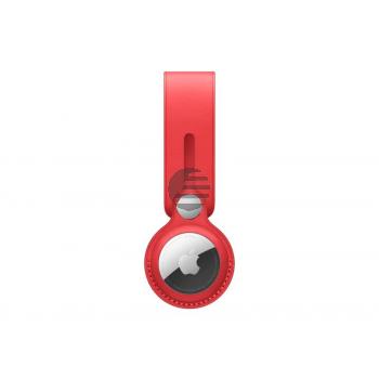 Apple AirTag Anhänger aus Leder rot