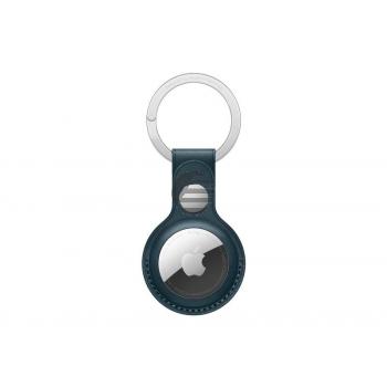 Apple AirTag Schlüsselanhänger aus Leder baltischblau