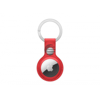 Apple AirTag Schlüsselanhänger aus Leder rot