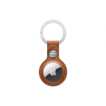 Apple AirTag Schlüsselanhänger aus Leder sattelbraun