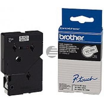 Brother Schriftbandkassette schwarz/weiß (TC-201)