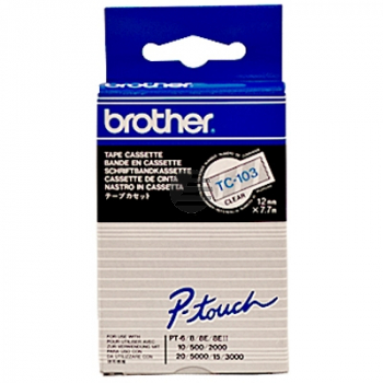 Brother Schriftbandkassette blau/transparent (TC-103)