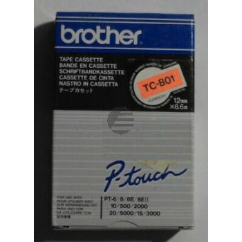 Brother Schriftbandkassette schwarz/signal orange (TC-B01)