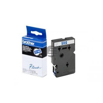 Brother Schriftbandkassette weiß/blau (TC-595)