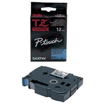 Brother Schriftbandkassette schwarz/blau (TZE-531)