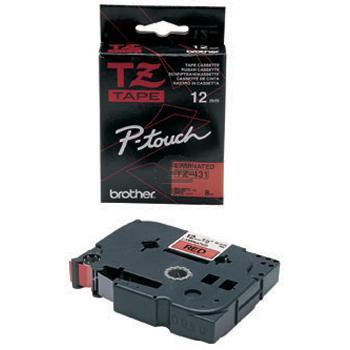 Brother Schriftbandkassette schwarz/rot (TZE-431)