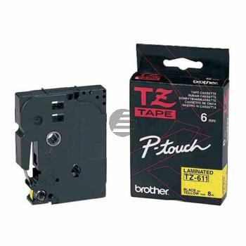 Brother Schriftbandkassette schwarz/signal gelb (TZE-C31)