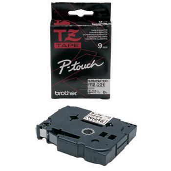 Brother Schriftbandkassette schwarz/weiß (TZE-221)