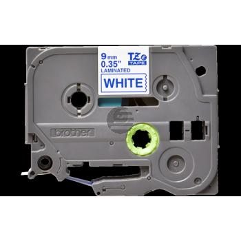 Brother Schriftbandkassette blau/weiß (TZE-223)