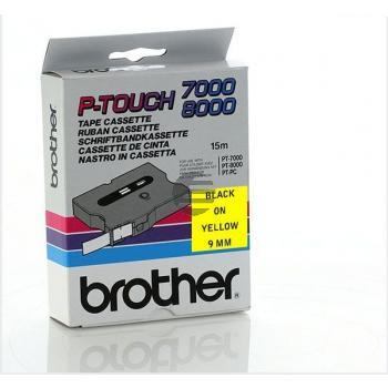 Brother Schriftbandkassette schwarz/gelb (TX-621)