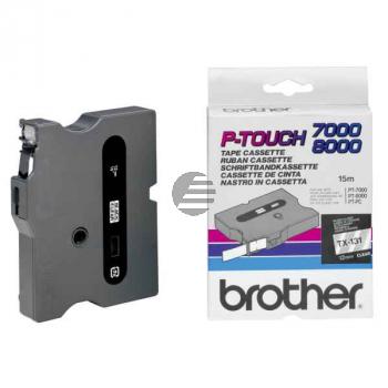 Brother Schriftbandkassette schwarz/transparent (TX-131)
