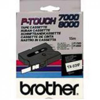 Brother Schriftbandkassette schwarz/weiß (TX-231)