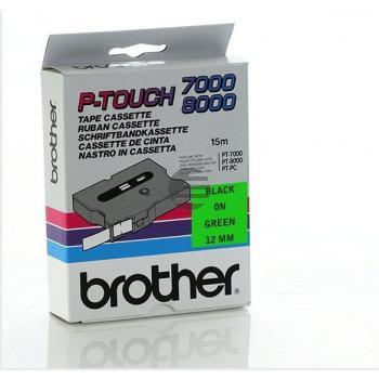Brother Schriftbandkassette schwarz/grün (TX-731)