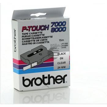 Brother Schriftbandkassette schwarz/transparent (TX-151)