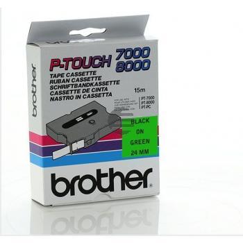Brother Schriftbandkassette schwarz/grün (TX-751)