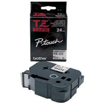 Brother Schriftbandkassette schwarz/weiß (TZE-251)