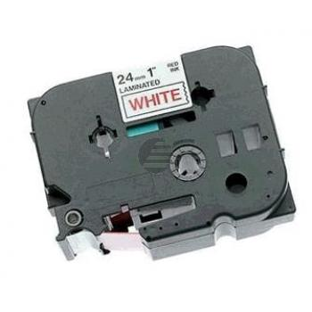 Brother Schriftbandkassette rot/weiß (TZE-252)