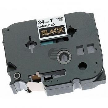 Brother Schriftbandkassette gold/schwarz (TZE-354)