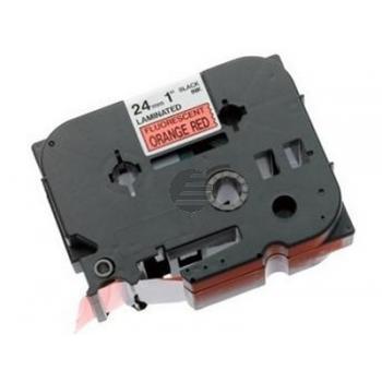 Brother Schriftbandkassette schwarz/signal orange (TZE-B51)