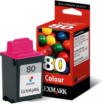 Lexmark Tintendruckkopf cyan/gelb/magenta (12A1980, 80)