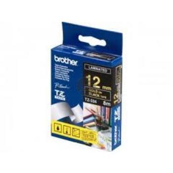 Brother Schriftbandkassette schwarz/weiß (TZE-334)