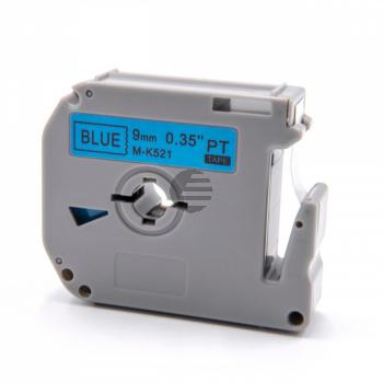 Brother Schriftbandkassette schwarz/blau (M-K521)
